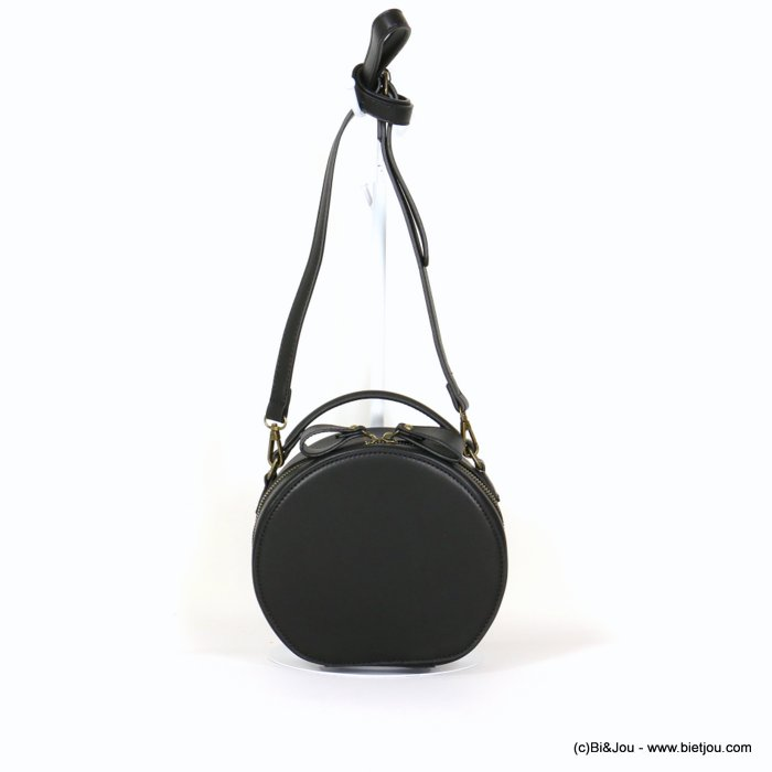hangbag 0919541-01 round imitation leather zip 20x17x8cm