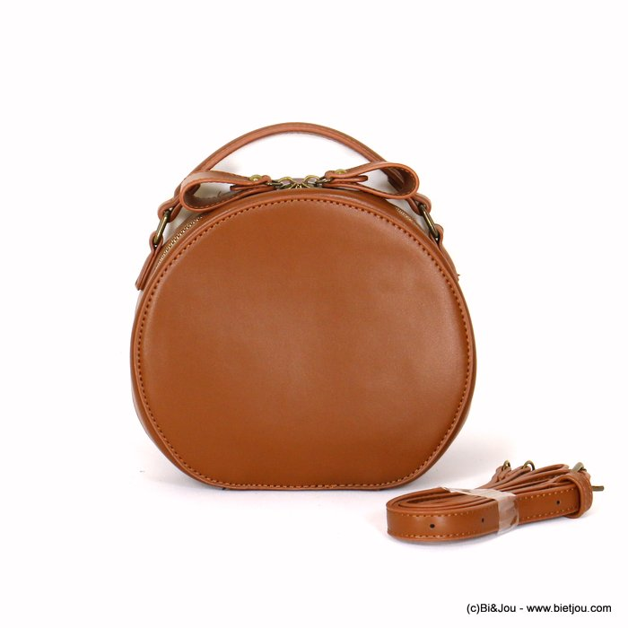 hangbag 0919541-02 round imitation leather zip 20x17x8cm