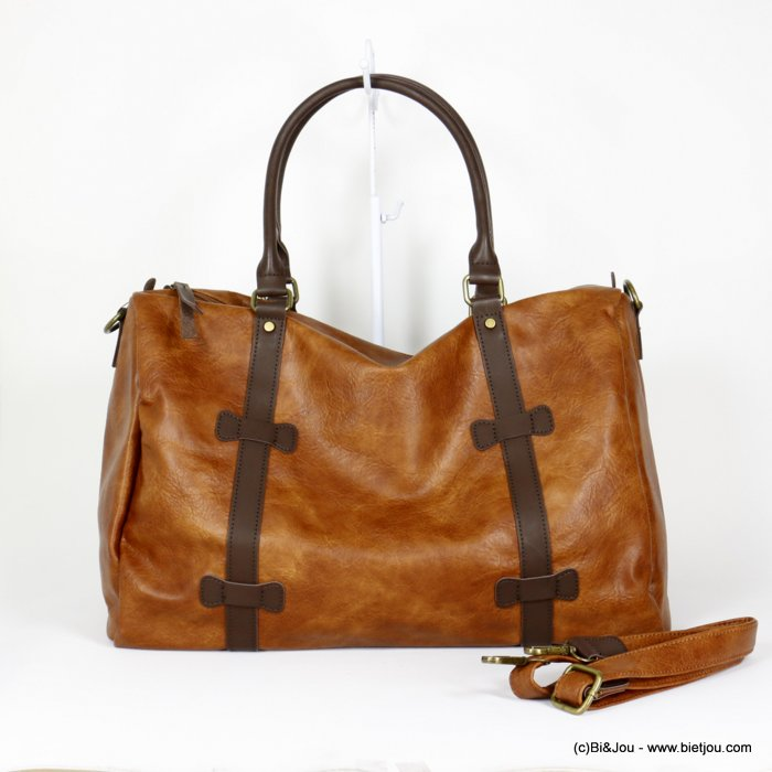 handbag 0920014-02  travel bag soft faux-leather adjustable strap synthetic 48x31x21cm