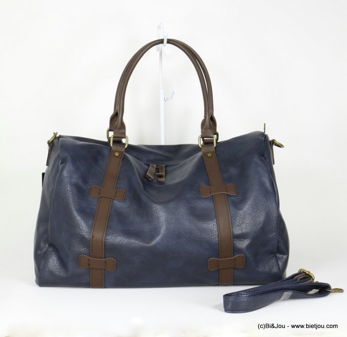 handbag 0920014-09 travel bag soft faux-leather adjustable strap synthetic 48x31x21cm