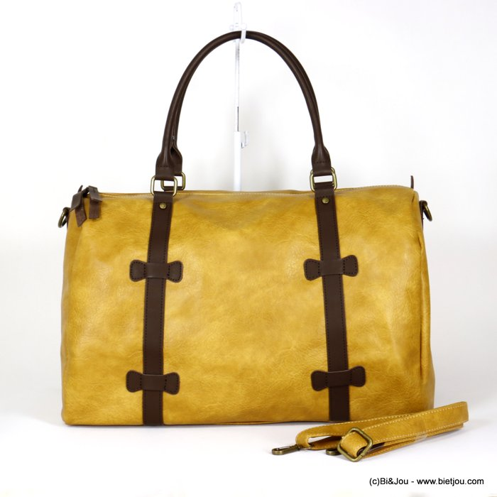 handbag 0920014-43 travel bag soft faux-leather adjustable strap synthetic 48x31x21cm