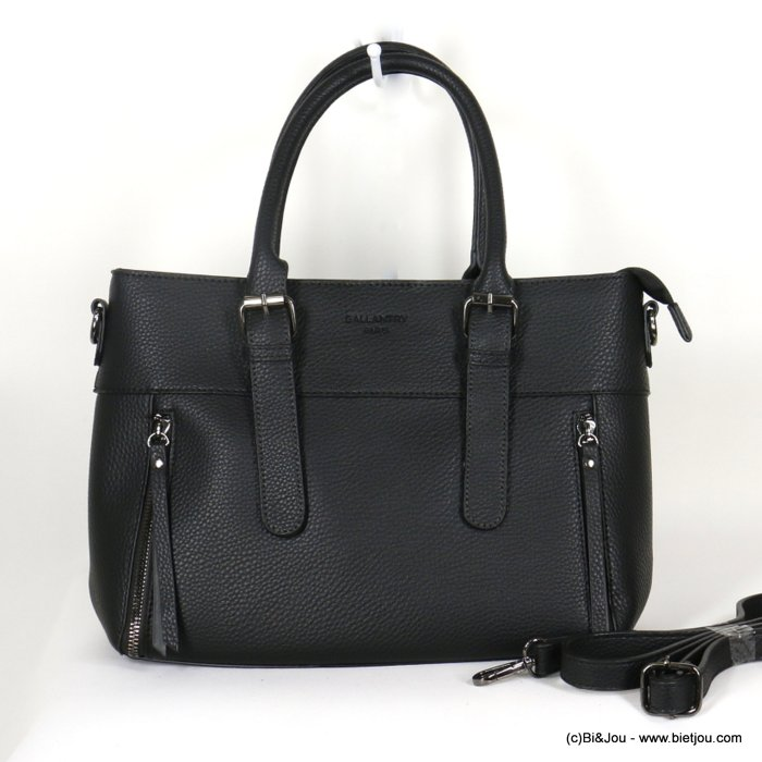 handbag 0920507-01 faux-leather synthetic grained semi-rigid removable shoulder strap 33x23x12cm
