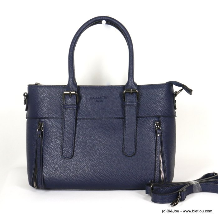 handbag 0920507-09 faux-leather synthetic grained semi-rigid removable shoulder strap 33x23x12cm