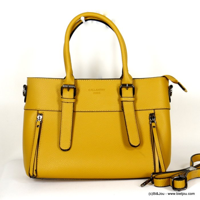 handbag 0920507-43 faux-leather synthetic grained semi-rigid removable shoulder strap 33x23x12cm