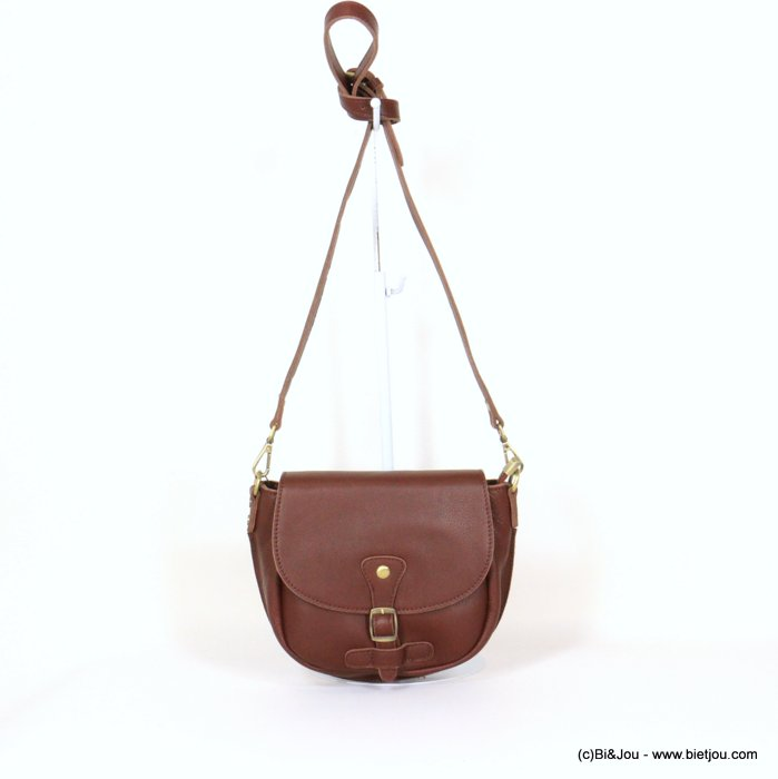 handbag 0921005-02 saddlebag 21x18x6cm GENUINE LEATHER