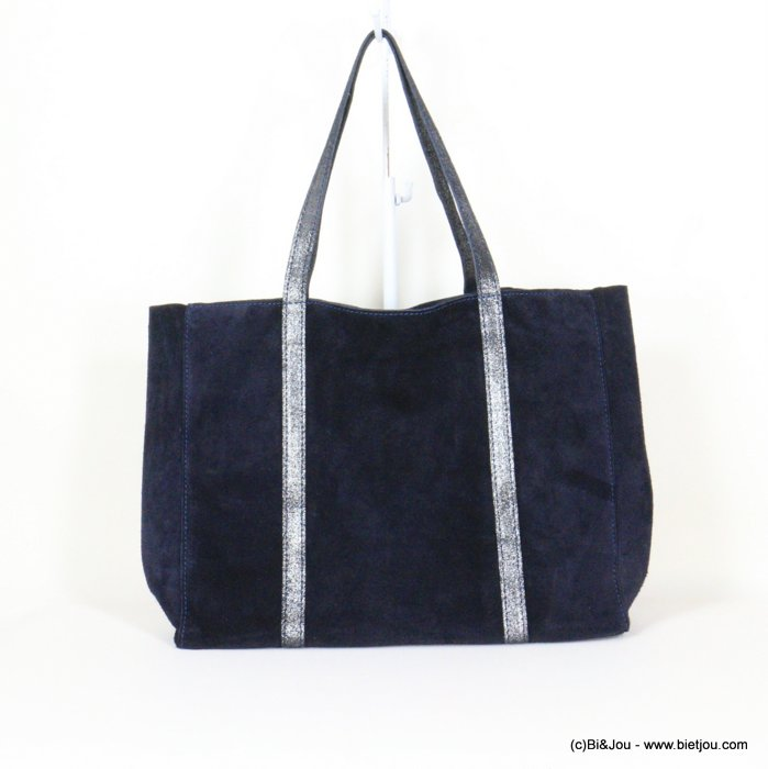 handbag 0921006-09 GENUINE LEATHER tote suede style 37x30x11cm