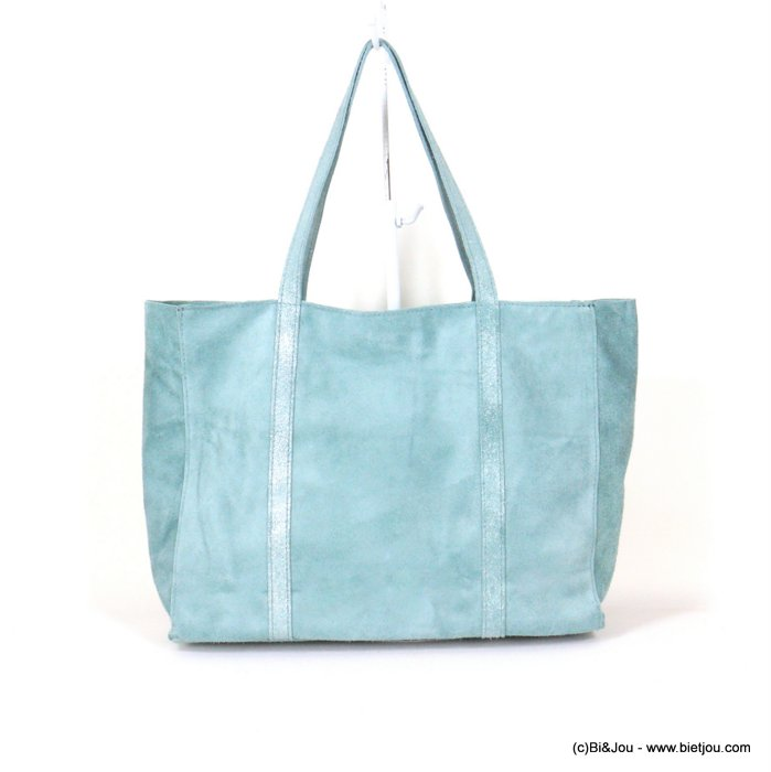 handbag 0921006-38 GENUINE LEATHER tote suede style 37x30x11cm