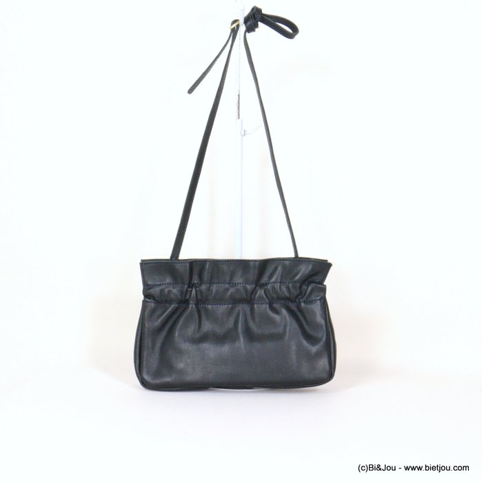 handbag 0921007-09 clutch shoulder GENUINE LEATHER woman 25x15x7.5cm