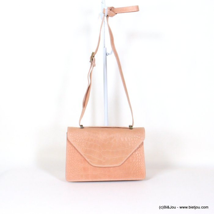 handbag 0921009-33 croco style GENUINE LEATHER 22x14x7cm