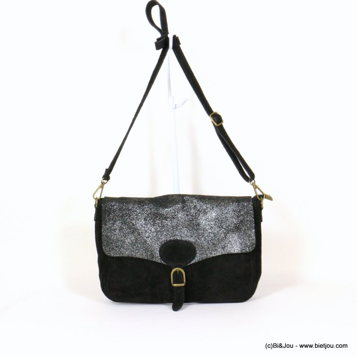 handbag 0921010-01 saddlebag suede style 32x20x8cm GENUINE LEATHER