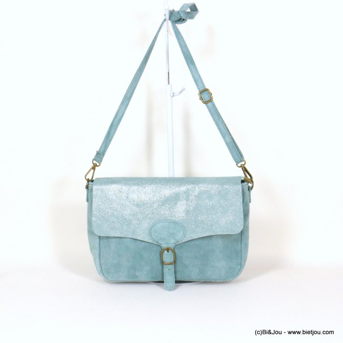 handbag 0921010-38 saddlebag suede style 32x20x8cm GENUINE LEATHER