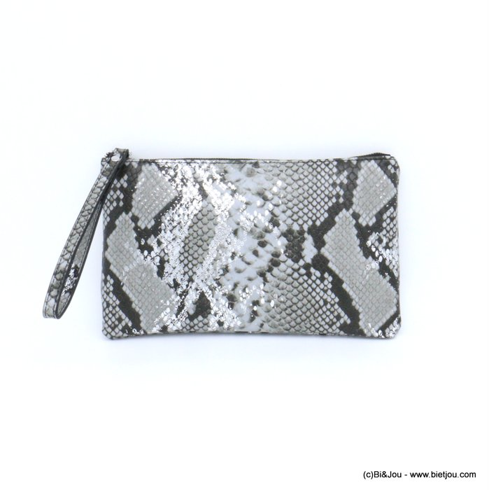 pouch 0921011-01 imitation-leather boa snake print purse card holder 23x13x1cm