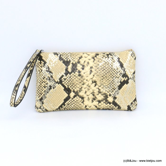 pouch 0921011-06 imitation-leather boa snake print purse card holder 23x13x1cm