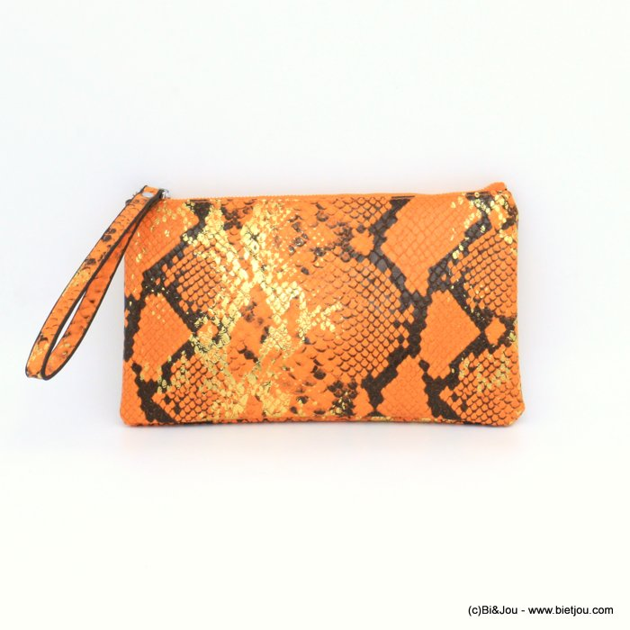 pouch 0921011-11 imitation-leather boa snake print purse card holder 23x13x1cm