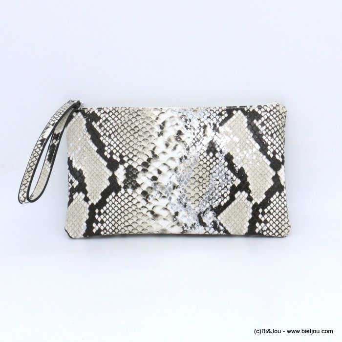pouch 0921011-19 imitation-leather boa snake print purse card holder 23x13x1cm
