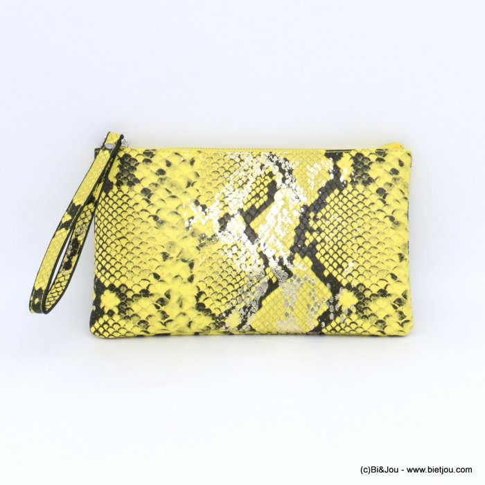 pouch 0921011-43 imitation-leather boa snake print purse card holder 23x13x1cm