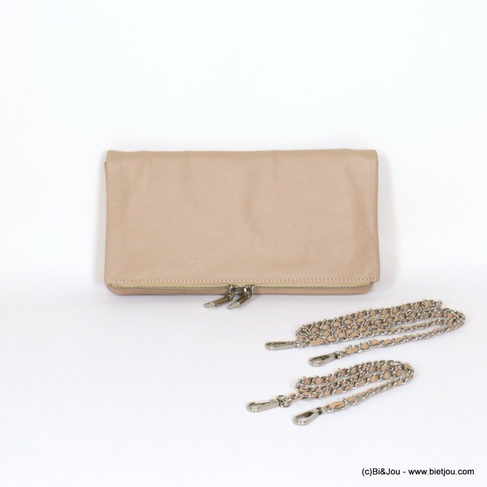 handbag 0921056-33 clutch GENUINE LEATHER woman 27x14.5cm