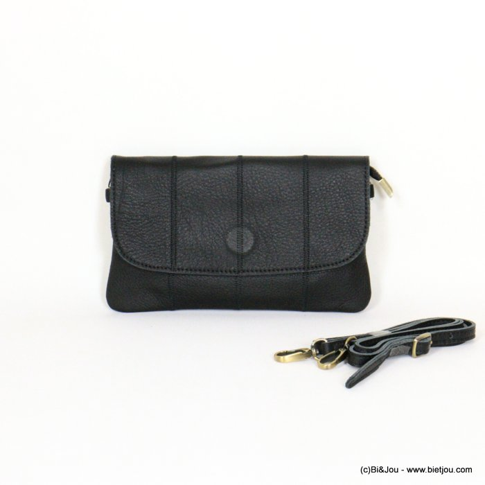 handbag 0921059-01 clutch GENUINE LEATHER woman 22.5x13cm
