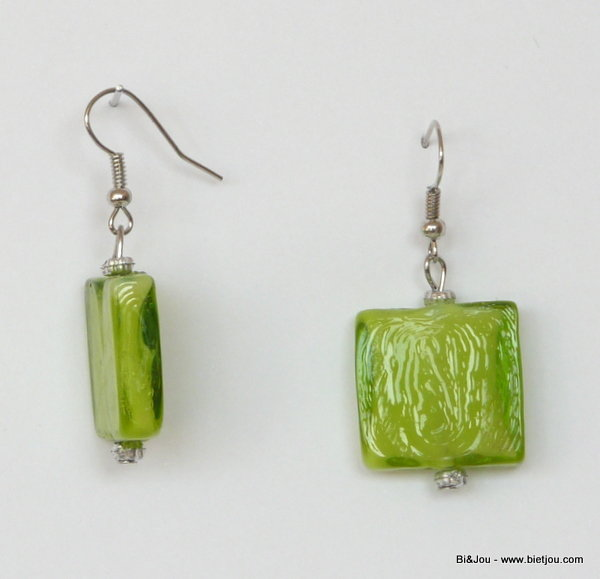 earrings 36043-07 metal-glass